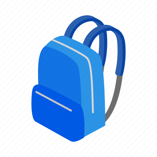 Backpack, bag, baggage, education, isometric, rucksack, school icon - Download on Iconfinder