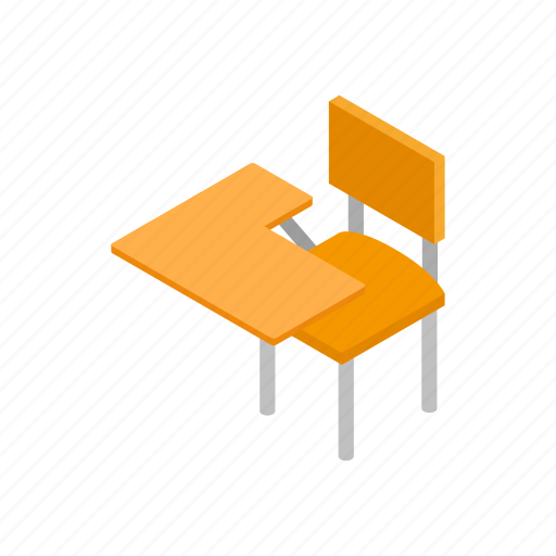 Chair, classroom, desk, education, isometric, learn, school icon - Download on Iconfinder