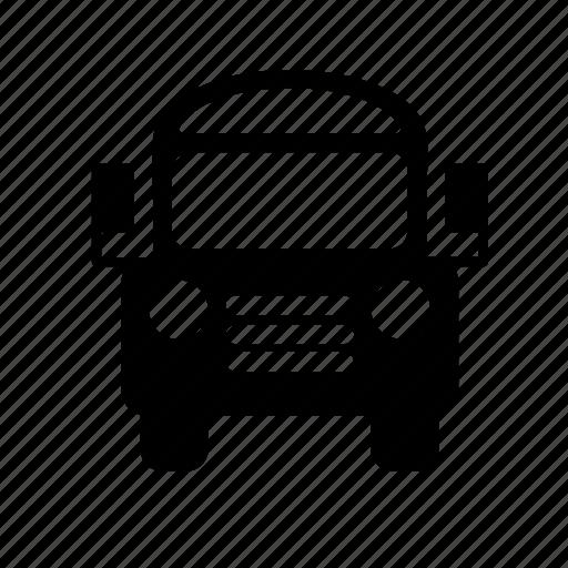 School, driving, bus, driver, children, transport icon