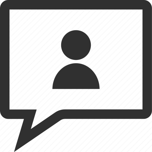 chat, learning, person, school icon