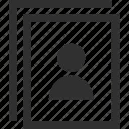 document, learning, school, teacher, user icon
