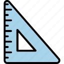 learning, math, ruler, school, setsquare icon