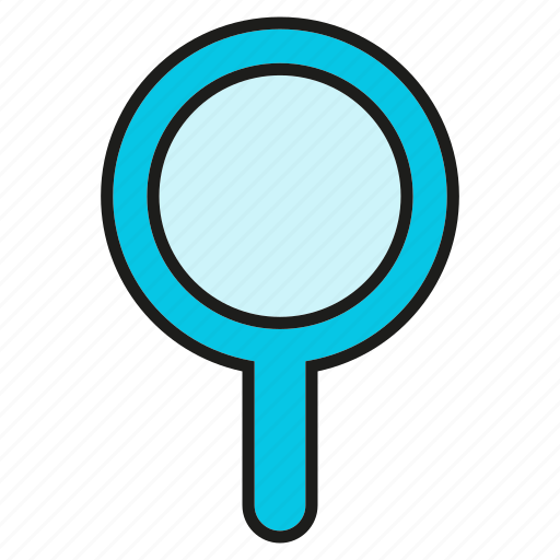 magnifier glass, search, tool, verify, view icon