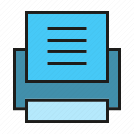 document, electronic, office, print, printer icon