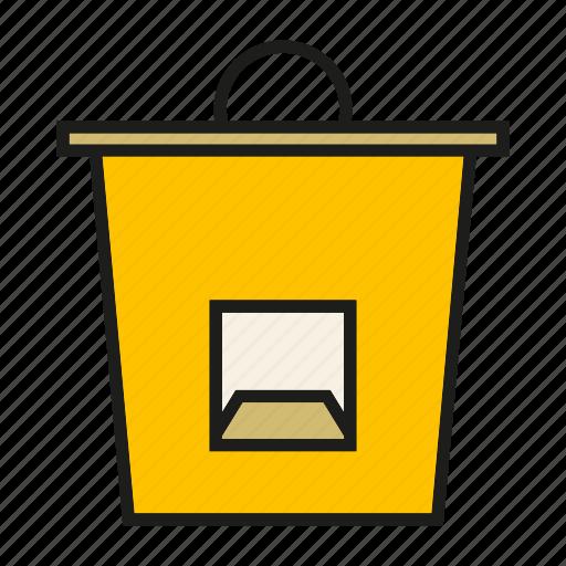 basket, bin, bucket, office supply icon
