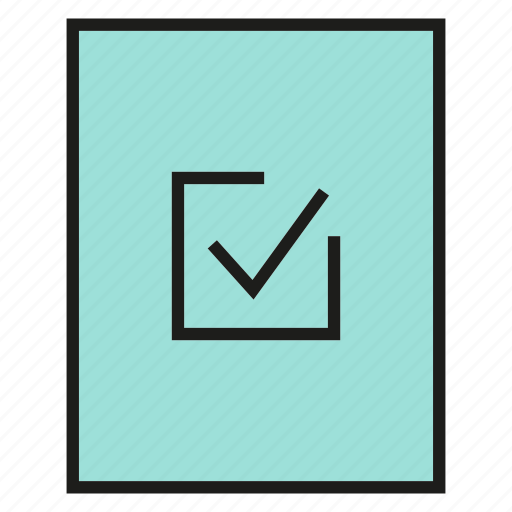 approve, check, document, paper, pass, tick icon