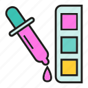 art, color tube, design, drop, eyedropper, ink, paint icon