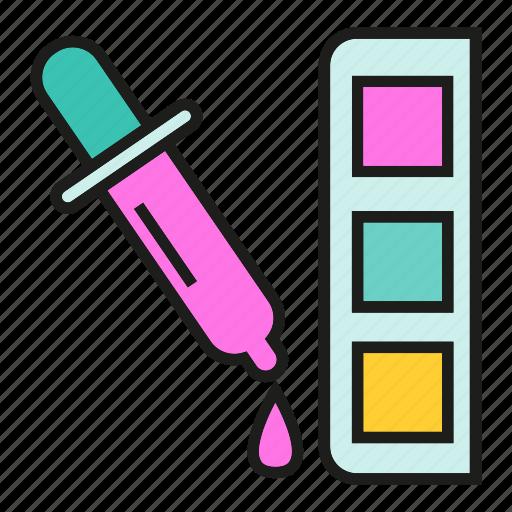 art, color tube, design, drop, eyedropper, ink, paint icon
