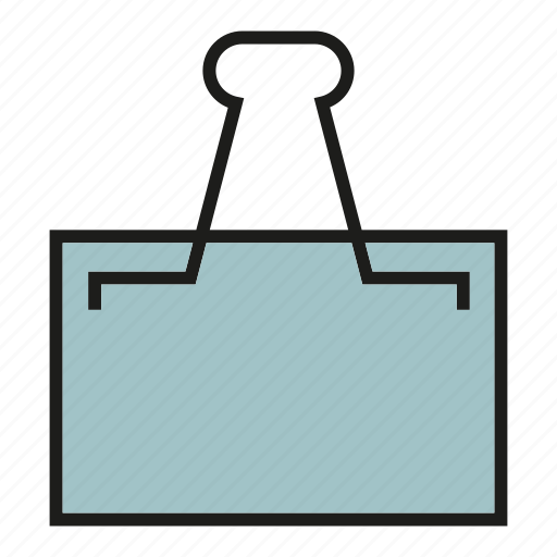 binder, clip, document, office, paper clip icon