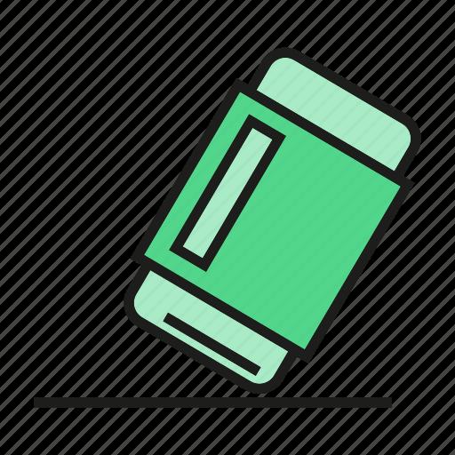 eraser, school supply, stationery icon