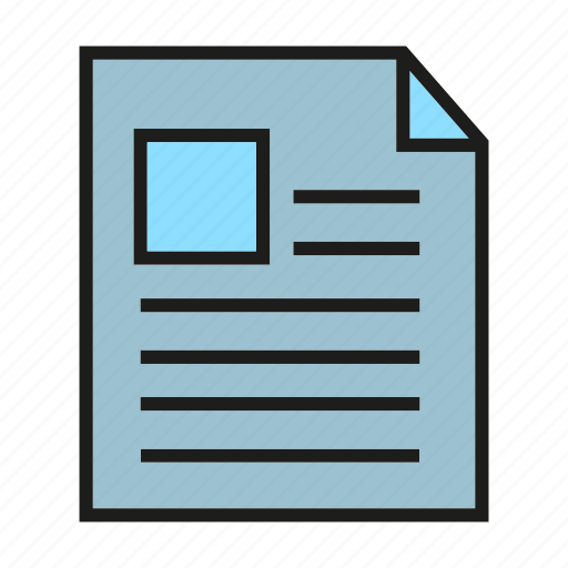 document, file, note, office, paper icon