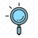 magnifier, search, seek, seo, verify
