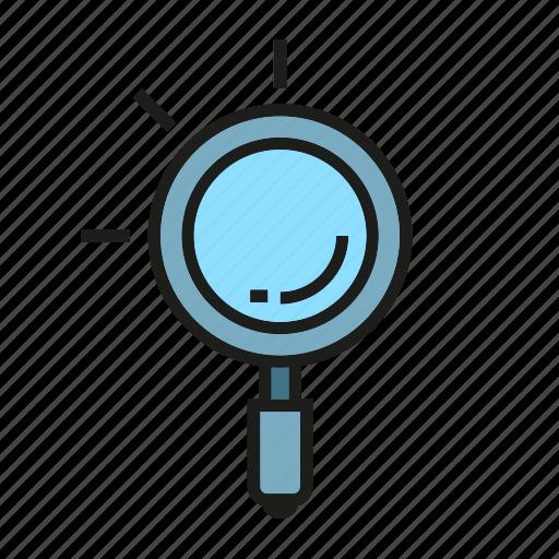 magnifier, search, seek, seo, verify icon