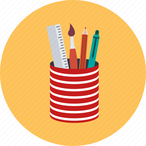 education, office supplies, pen icon