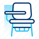 chair, desk, education, learning, school, student, student chair icon