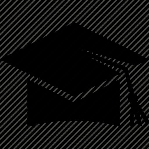 cap, graduate cap, hat, mortarboard, square academic cap, square cap, trencher cap icon