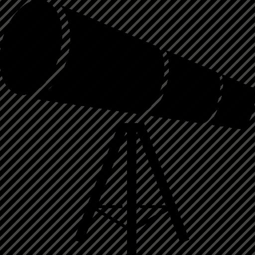 optical telescope, scope, telescope, telescopes icon