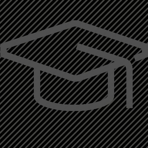 academic, alumnus, education, graduation, hat, student, university icon