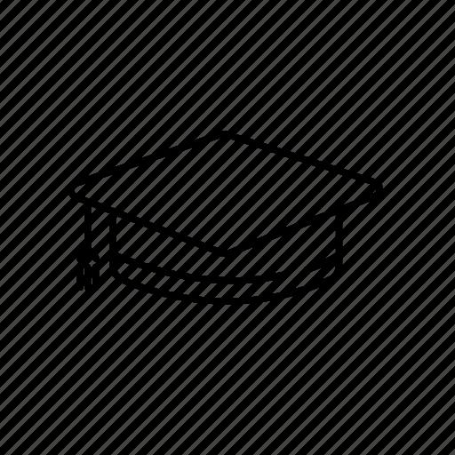 cap, college, degree, graduation, graduation cap, high school icon