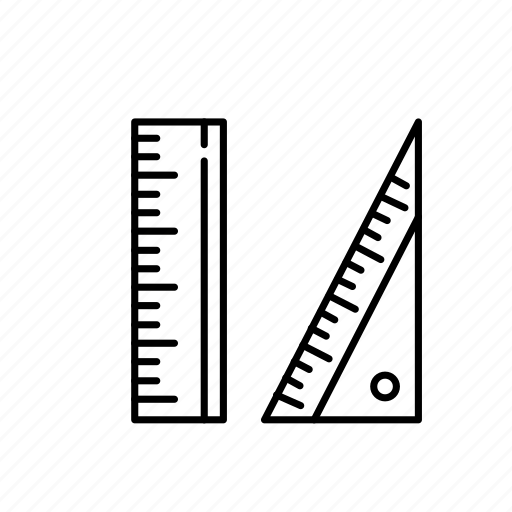 measurements, rulers, units icon