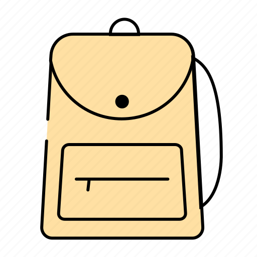 backpack, bag, school, stationery, tools icon