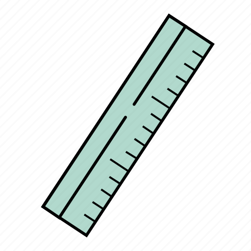 office, ruler, school, stationery, tools icon