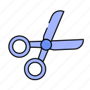 school, scissor, scissors, stationery, tools icon
