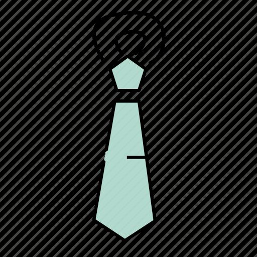school, tie, tools icon