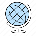 geography, globe, school, stationery, tools icon