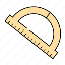 bow, office, ruler, school, stationery, tools icon