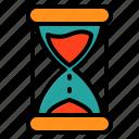 clock, hourglass, school, time, timer