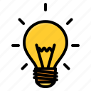 bulb, idea, lamp, light, school
