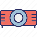 electronics, movie projector, multimedia, projector icon