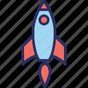 missile, rocket, rocket launch, spacecraft icon