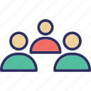 group, hierarchical structure, people, people hierarchy icon