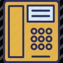 landline, retro phone, telecommunication, telephone icon