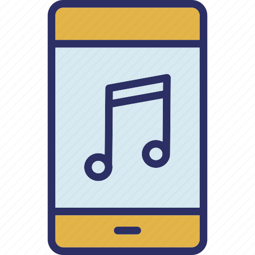 mobile music, mobile sound, music, music note icon