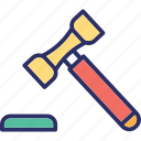 auction, court, court gavel, gavel icon
