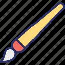 art brush, artist brush, brush, paint brush icon