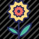 bud open, flower, lotus, lotus bud icon