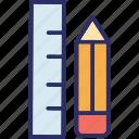 draft tools, geometry, pencil, ruler icon