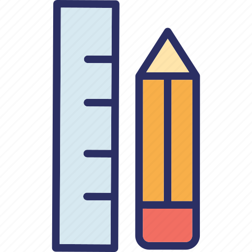 draft tools, geometry, pencil, ruler icon