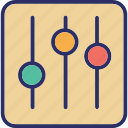 equalizer, multimedia, music preferences, sound settings icon