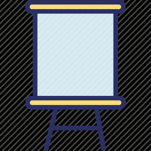 blackboard, chalkboard, easel, whiteboard icon