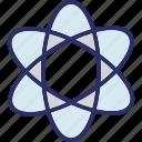 atom, atom bond, electron, molecule icon