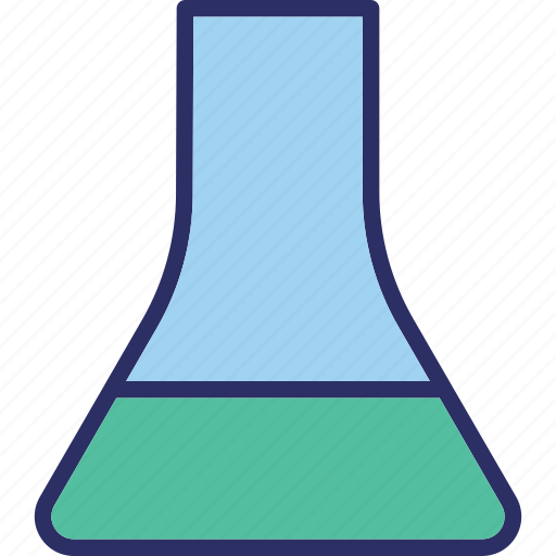 chemical flask, chemistry, conical flask, flask icon