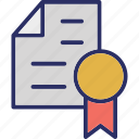 certificate, certification, degree, diploma icon
