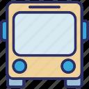 autobus, bus, school bus, transport icon