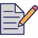 paper, pen, sheet, signature icon