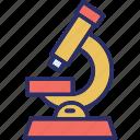 lab equipment, laboratory, microscope, research icon